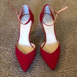 Never worn red Jessica Simpson heels